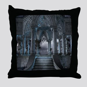 Gothic Mausoleum Throw Pillow