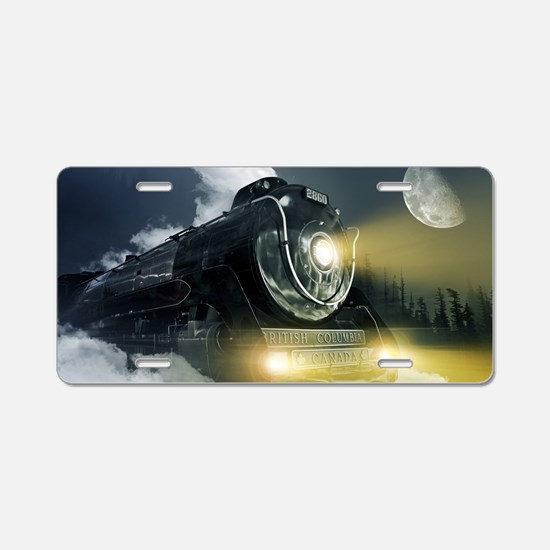Steam Locomotive Aluminum License Plate