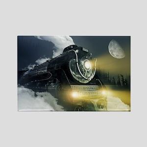 Steam Locomotive Rectangle Magnet