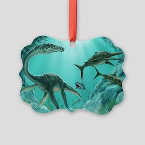 Underwater Dinosaur Picture Ornament