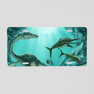 Underwater Dinosaur Aluminum License Plate