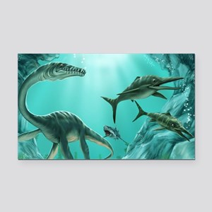 Underwater Dinosaur Rectangle Car Magnet