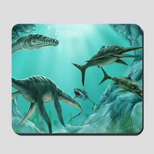 Underwater Dinosaur Mousepad