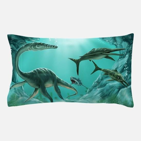 Underwater Dinosaur Pillow Case