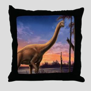 Jurassic Dinosaurs Throw Pillow