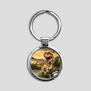 Predator Dinosaurs Round Keychain