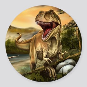 Predator Dinosaurs Round Car Magnet