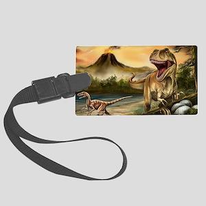 Predator Dinosaurs Large Luggage Tag