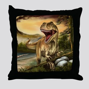 Predator Dinosaurs Throw Pillow