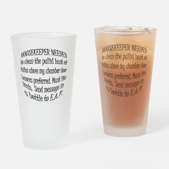 Poe Housekeeper Drinking Glass