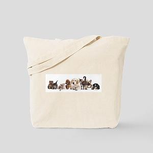 Cute Pet Panorama Tote Bag