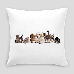 Cute Pet Panorama Everyday Pillow