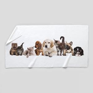 Cute Pet Panorama Beach Towel