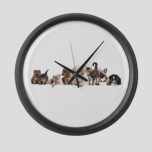 Cute Pet Panorama Large Wall Clock