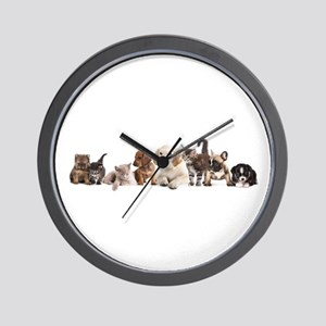 Cute Pet Panorama Wall Clock