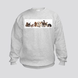 Cute Pet Panorama Kids Sweatshirt