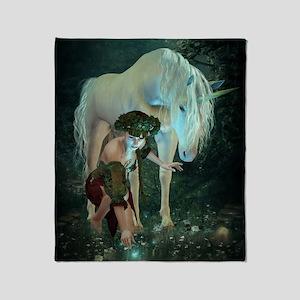 Fairy and Unicorn Magic Throw Blanket