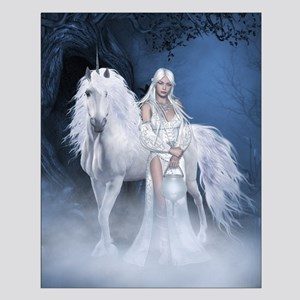 White Lady and Unicorn Small Poster