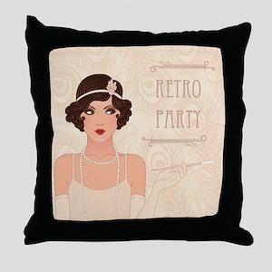 Charleston Retro Party Throw Pillow
