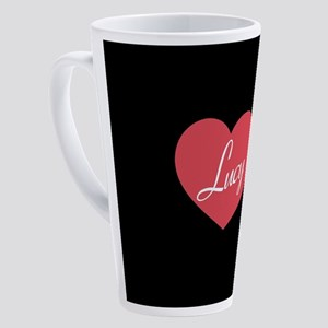 I Love Lucy Heart 17 oz Latte Mug