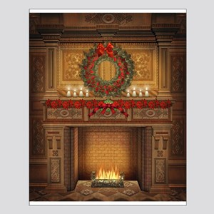 Christmas Fireplace Small Poster