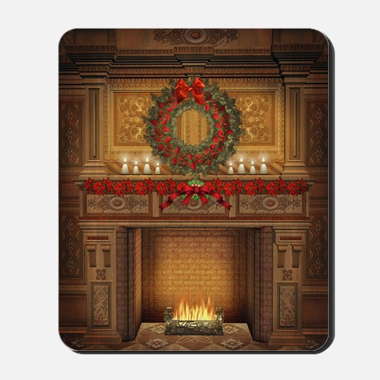 Christmas Fireplace Mousepad