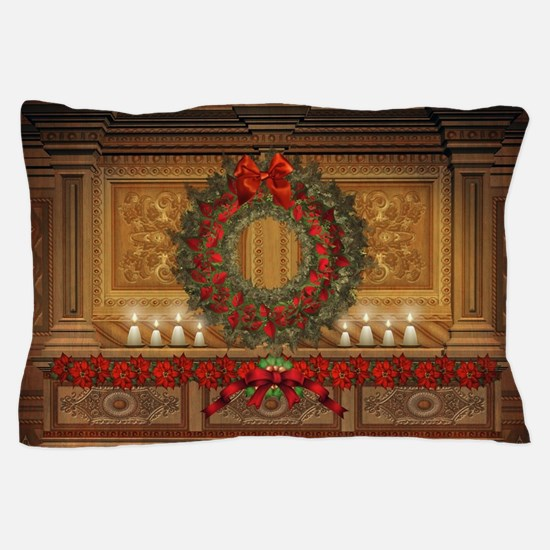 Christmas Fireplace Pillow Case