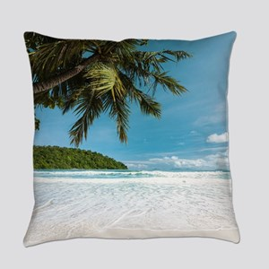 Tropical Palm Beach Everyday Pillow