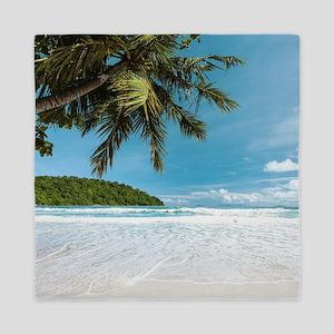 Tropical Palm Beach Queen Duvet