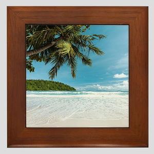 Tropical Palm Beach Framed Tile