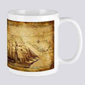 Old Ship Map Mug