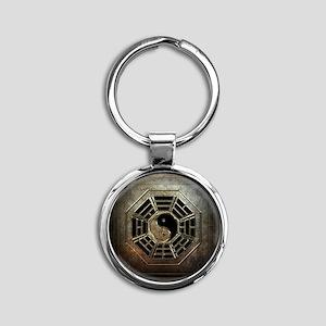 Yin Yang Bagua Round Keychain