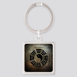 Yin Yang Bagua Square Keychain