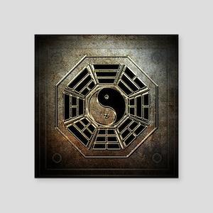 """Yin Yang Bagua Square Sticker 3"""" x 3"""""""