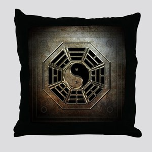 Yin Yang Bagua Throw Pillow