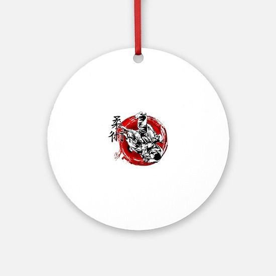 Cute Japanese jiu jitsu Round Ornament