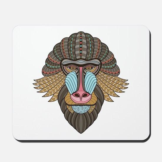 Tribal Baboon Mousepad
