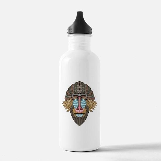 Tribal Baboon Water Bottle