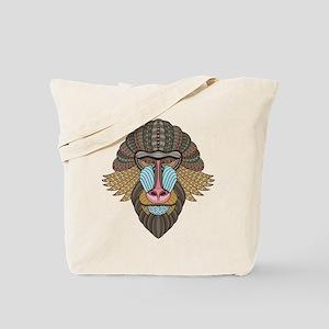 Tribal Baboon Tote Bag