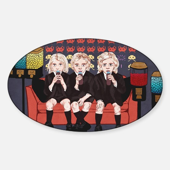 Cute American horror Sticker (Oval)