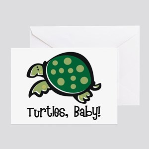 Turtles, Baby Greeting Card