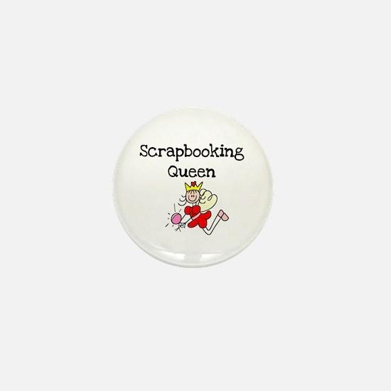 Scrapbooking Queen Mini Button