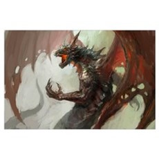 Gothic Dark Dragon Wall Art Poster