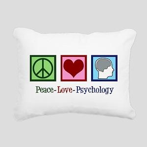 Peace Love Psychology Rectangular Canvas Pillow