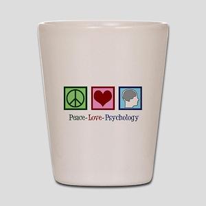 Peace Love Psychology Shot Glass