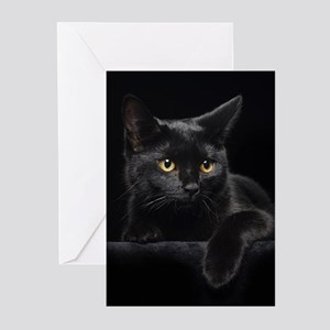 Black Cat Greeting Cards (Pk of 20)