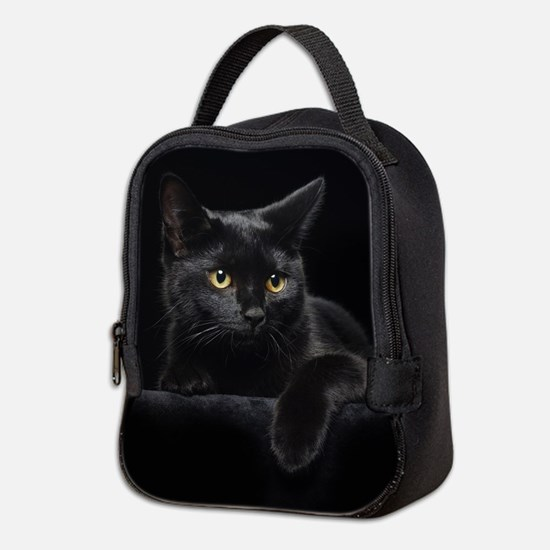 Black Cat Neoprene Lunch Bag