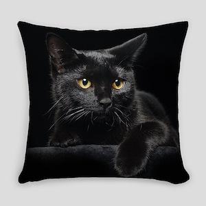 Black Cat Everyday Pillow