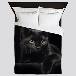 Black Cat Queen Duvet