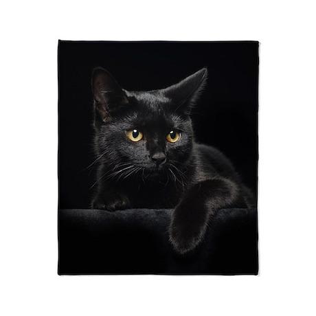 Black Cat Throw Blanket
